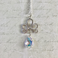 Silver Filigree Baroque Gemstone Necklace
