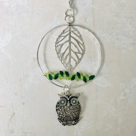 Owl In A tree Pendant Statement Necklace