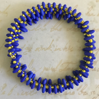 Statement Beaded Memory Wire Bracelet