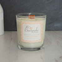 Aromatherapy Cinnamon and Orange Soy Wax Wood Wick Crackle Candle