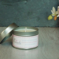 Aromatherapy Geranium and Lemongrass Soy Wax Tin Candle