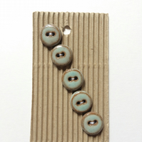 Set of 5 small ceramic buttons