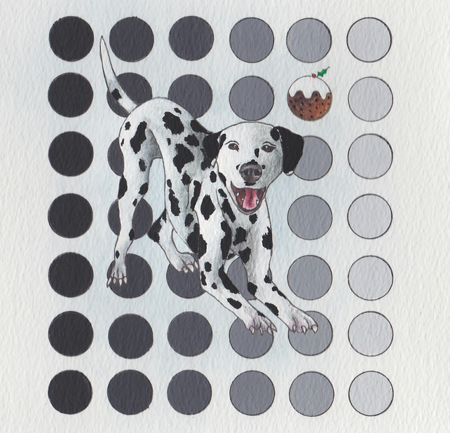 Dalmatian dog Christmas card