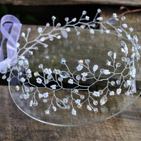 Delicate Beaded Bridal Hair Vine Crystal Wedding Headpiece