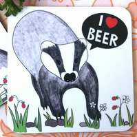 I Heart Beer Coaster