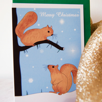 Festive Squirrels Christmas Card