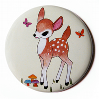 Woodland Fawn Pocket Mirror