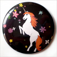 Floral Unicorn Pocket Mirror -LAST ONE!-