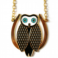 Mysterious Owl Necklace - gold