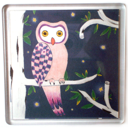 Mysterious Night Owl Coaster
