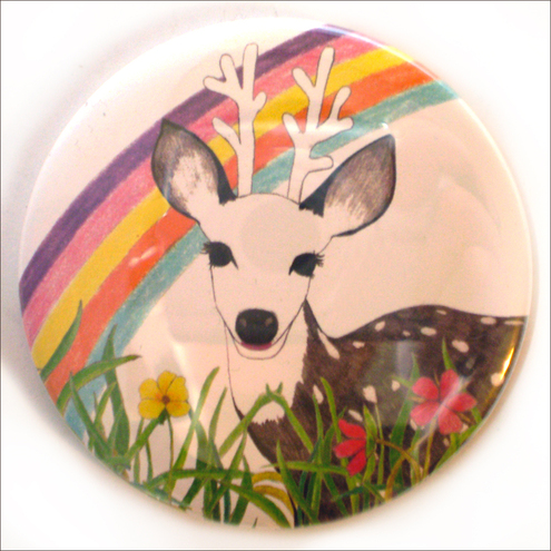 Rainbow Deer Pocket Mirror