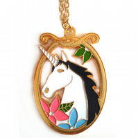 SALE! Magical Unicorn Necklace in Gold
