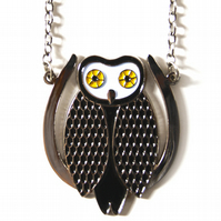 SALE! Mysterious Owl Necklace in Silver