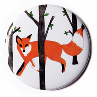 Curious Fox Pocket Mirror