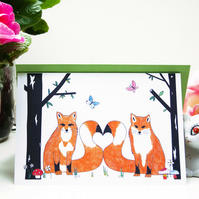 Love Foxes Greeting Card
