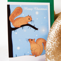 Squirrels Christmas Card