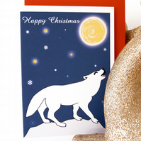 Howling Wolf Christmas Card