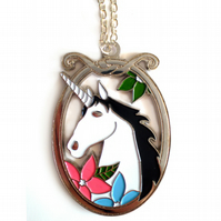Magical Unicorn Necklace in Silver
