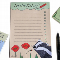 Badger Magnetic To Do List Pad