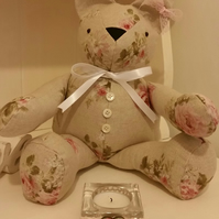 Gift Bear teddy shabby chic decorative home decor gift present birthday wedding