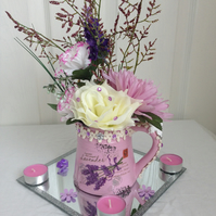 Lavender Vintage Unique Jug With Beautiful Flower Arrangement