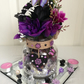 Purple Black Glass Jar