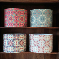 Hand Crafted 30cm Drum Lampshade in Lewis & Wood fabric CONWAY