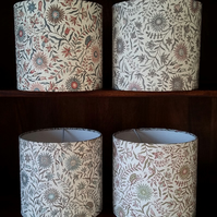 Hand Made 20cm Drum Lampshade in Lewis & Wood DAISY CHINTZ Design