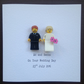 Personalised Lego Mr & Mrs Card