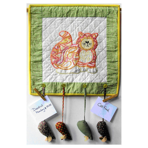 Cockington Cat Wall Hanging Pattern - 33cm x 49 cm