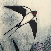 Greetings Card- Swallows Return