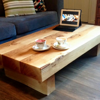 Oak sleeper coffee table, coffee table, sleeper coffee table