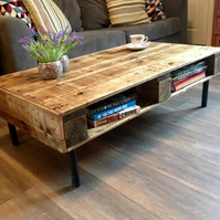 Pallet coffee table, coffee table, reclaimed wood table