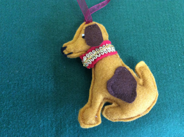 Spicy Scented Christmas Dog Hanging Decoration