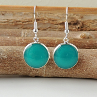 Teal Resin Drop Earrings (410)