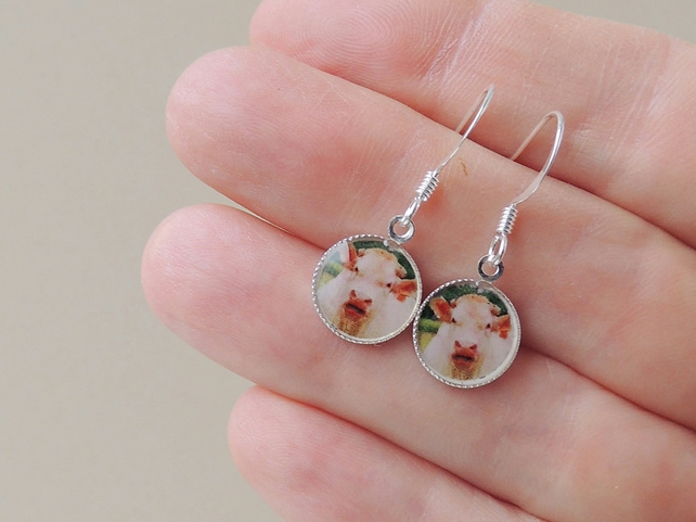 Cow Photo Resin Charm Earrings (1398)