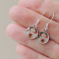 SALE: Cow Photo Resin Charm Earrings (1398)