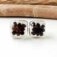 SALE: Peppercorn Resin Cufflinks (413)