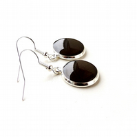 Dark Brown Earrings (1082)