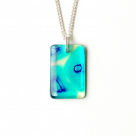Blue Resin Necklace (1503)