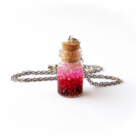 Pink Ombre Bottle Necklace (1982)