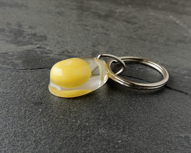 Yellow Skittles Sweet  Resin Keyring (1392)