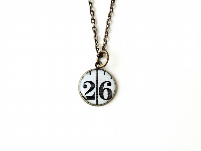 Number 26 Tape Measure Resin Necklace (602)