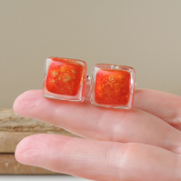 Red & Gold Cufflinks (1051)