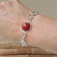 Red Rose Bracelet - SALE (242)