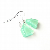 Mint Green Earrings, Free UK Postage - SALE (857)