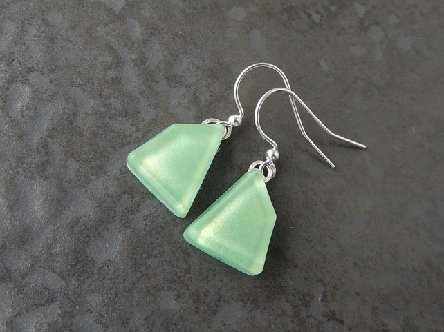 Mint Green Earrings - SALE (857)