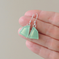Mint Green Resin Drop Earrings (857)