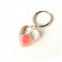 Love You Lots Like Jelly Tots Resin Heart Keyring (240)