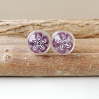 Purple Millefiori Cufflinks - Sale (115)